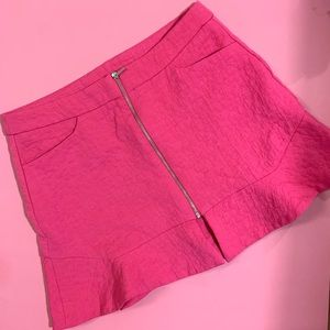 Zara Pink Mini Skirt (NEW)